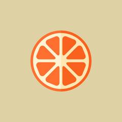 Orange. Food Flat Icon