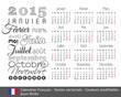 Calendrier français 2015 typo-1