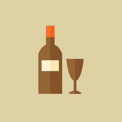 Wine. Drink Flat Icon