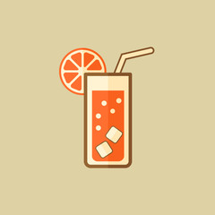 Cocktail. Drink Flat Icon