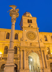 Padua - Torre del Orologio and st. Mark column