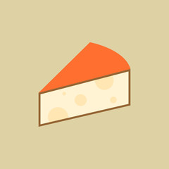 Cheese. Food Flat Icon