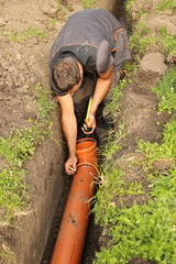 sewer construction home