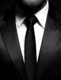 Man gentleman in black suit and tie - 70408971