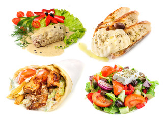 Greek and mediterranean fast street food