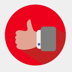Векторный значок с изображением руки