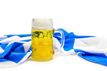 Bier und Bayern Fahne