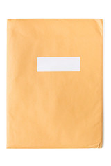 Front of yellow envelope.Isolated on white background.