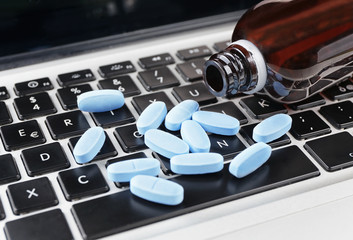 medicine on keyboard