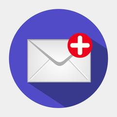 Векторный значок с изображением конверта