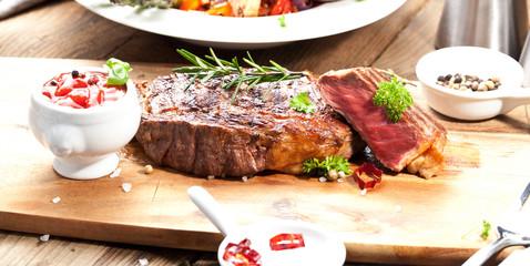 saftiges steak fleisch