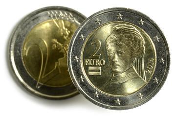 Österreichische Euromünzen Austrian euro coins 奧地利的歐元硬幣