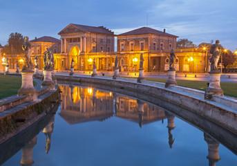 Padua - Prato della Valle in evening dusk