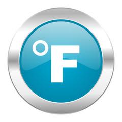 fahrenheit internet blue icon