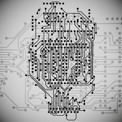 Microchip background, electronics circuit, EPS10 vector