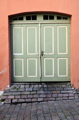 old vintage doors in town Tallinn