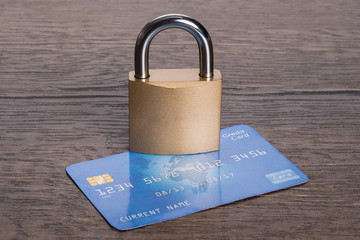 Secure credit card concept