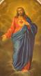 Padua - heart of Jesus Christ paint in Saint Benedic church