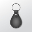 Blank Leather Round Keychain with Ring for Key - 70411745