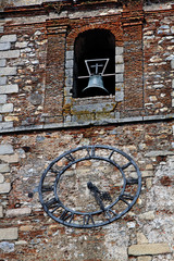 Reloj y camapa, glesia de San Mateo, Cáceres, España