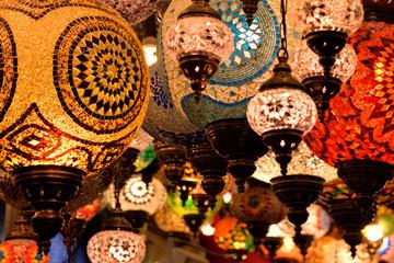 Turkish lamps at Grand Bazaar in Istanbul, Turkey.