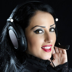 Attractive Girl With Headset