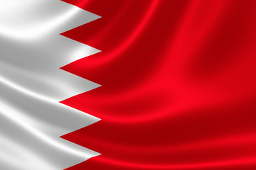 Close-up of Kingdom of Bahrain's Flag