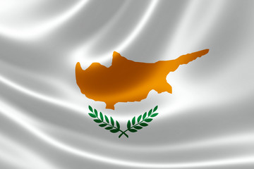 Close-up of Republic of Cyprus' Flag