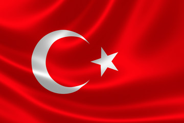 Close-up of the Republic of Turkey's Flag