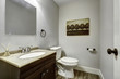 Bathroom interior with vanity cabinet