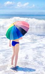 Yang girl with umbrella