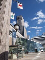 旗日の札幌駅