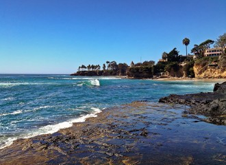 Afternoon View of Beautiful Laguna Beach, California, USA