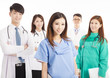 Professional medical doctor team standing