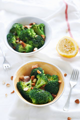 Healthy Eating salad for lunch broccoli
