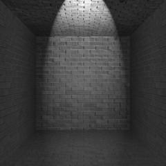 Beleuchtetes Zimmer ohne Fenster