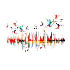 Colorful sound waves design
