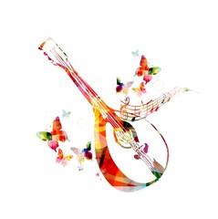 Colorful mandolin design