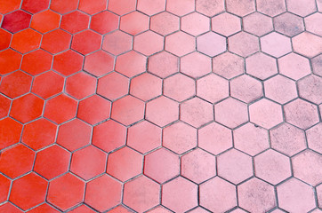 red tile floor gradient two tone