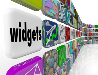 Widgets Applications Apps Software Programs Tile Icons