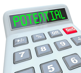 Potential Word on Calculator Reach Full Ability Opportunity Earn