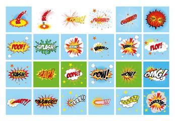 comic expression set