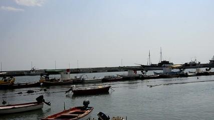 Fishing boats on harboar