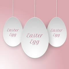 vector paper easter egg template