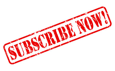 Subscribe now red stamp text