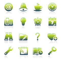 Organizer green icons.