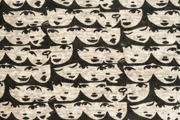 Face pattern fabric