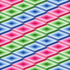 Seamless pattern with rhombic details