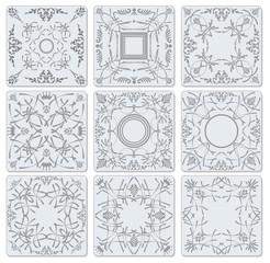 Decorative finishing ceramic tiles. Vector illustration