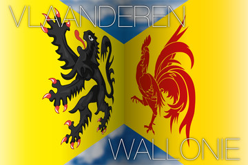 wallonie vs flanders flags